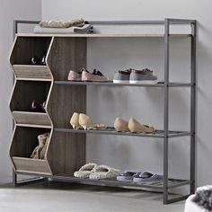9 Pair Shoe Rack | 1000 50 Pair Shoe Rack, Metal Shoe Rack, Diy Shoe Rack, Shoe Storage Cabinet, Bench With Shoe Storage, Shoe Racks, Shoe Rack Wayfair, Stackable Shoe Rack, Door Shoe Organizer