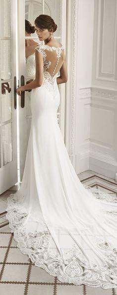 Wedding Dress by Luna Novias #weddingdresses