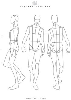 Man male body figure fashion template (D-I-Y your own Fashion Sketchbook) (Keywords: Fashion, Illustration, drawing, design, tool, App)