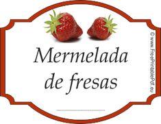 Etiqueta para mermelada de fresas | Imprimir el PDF Gratis