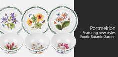 Portmeirion -                                                   Botanic Garden Set of 2 Salad Servers in White                                 Botanic Garden Set of Four Canisters       #Bowl, #Casserole, #ChristmasTree, #Clock, #Collectible, #Cookware, #Cushion, #Dinnerware, #Earthenware, #Knife, #Oven, #Porcelain, #Serveware, #Slicer, #Spoon, #Stoneware, #Table, #Throw, #Wedge