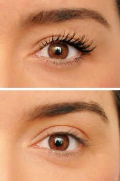 Before and after using WunderExtensions Lash Extension & Volumizing Mascara - available now at Soft Surroundings! Item #04993