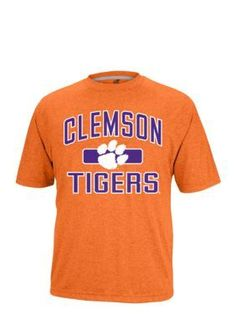 Stand out from the crowd in this boldly printed orange Clemson Tigers tee!