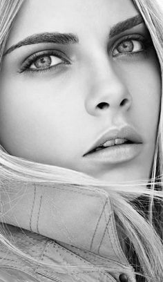 Cara Delevingne b: Black And White Portraits, Black White Photos, Black And White Photography, Photo Portrait, Female Portrait, Portrait Photography, Cara Delevingne, Girl Face, Woman Face