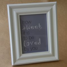how sweet it is frame Day, Sweet, Frame, Home Decor, Candy, Picture Frame, Decoration Home, Room Decor, Frames