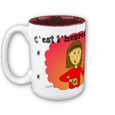 """Mug """"C'est l'heure du café !"""""""