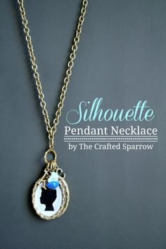 In love with this gorgeous DIY silhouette necklace. Easy tutorial!