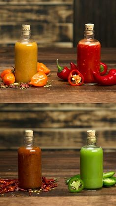 Homemade Hot Sauces: Sriracha and chili garlic, pineapple habanero and green chili peppery sauces Red Jalapeno, Stuffed Jalapeno Peppers, Chutneys, Coconut Oil Weight Loss, Hot Sauce Recipes, Hot Pepper Recipes, Chilli Recipes, Chili Garlic Sauce, Homemade Sauce