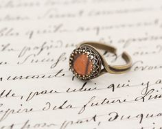 Real Monarch Butterfly Wing Brass Ring by BugUnderGlass on Etsy, $25.00