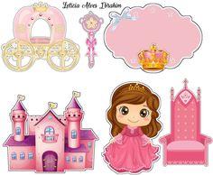Topper princesa / Realeza Hobbies And Crafts, Diy And Crafts, Disney Princess Crafts, Cinderella Cartoon, Princess Theme Birthday, Princess Cookies, Cake Templates, Baby Box, Princesas Disney