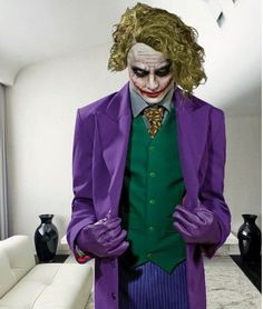Batman Arkham Asylum Joker Cosplay Costume Made
