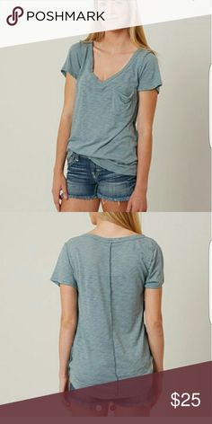 Bke core tee Bluish- gray bke pocket tee. Brand new without tags bke core  Tops Tees - Short Sleeve