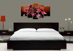 Tablouri magnolia 2188 Dimensiuni: 2x 30x50 + 2x 25x65 + 1x 25x80 cm Total ocupat: 135x80 cm