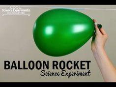 Make a balloon that flies like a rocket. Simple, Fun, Five minute Balloon Rocket Science Experiment.