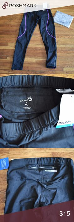 Baleaf Thermal Running Pants NWT Baleaf Thermal Running pants/tights. Black with purple stitching. NWT. Size M-runs small. Lined with soft fleece material, Reflective back zipper pocket and reflective zippers on ankles. Nice, quality material perfect for running, biking, or hiking in cooler weather. Baleaf Pants Track Pants & Joggers