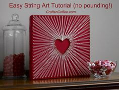 DIY Heart String Art. See how to make it