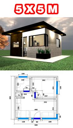 Small House Layout, Small House Design, Small House Plans, House Layouts, One Bedroom House, Affordable House Plans, Minimal House Design, Sims House Plans, Modern Bungalow House