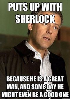 A little Lestrade love.