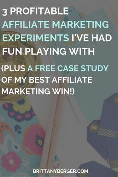 3 Affiliate Marketing Experiments I've Had Fun Playing With - I've never made much of an effort to do regular, consistent affiliate marketing. But in Making Sense of Cents' affiliate marketing course, I learned that consistency is one of the most important keys to success. So here are 3 experiences I've been doing with affiliate marketing on a more regular basis!