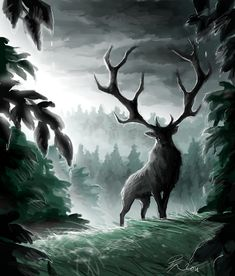 Rain Deer by Oviot.deviantart.com on @deviantART
