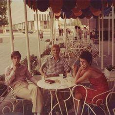 """Iggy Pop, David and Coco Schwab. East Berlin, 1977. #davidbowie #iggypop #cocoschwab"""