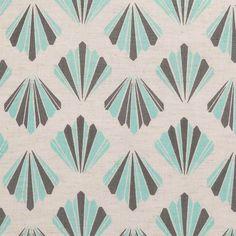 Periya cushion: the mini fan design reminds us of art deco patterns