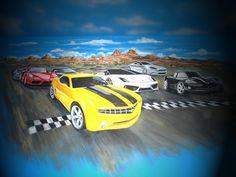 Race car mural