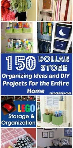 150 Dollar Store Organizing Ideas and Projects for the Entire Home. Good ideas--note to self: site a bit difficult to navigate--time comsuming.