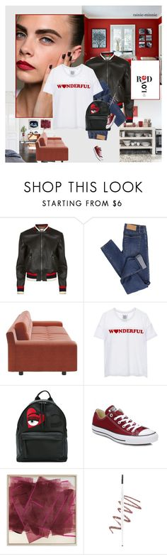 """Cara Delevingne"" by rainie-minnie ❤ liked on Polyvore featuring Gothenburg London, Gucci, Cheap Monday, Zoe Karssen, Chiara Ferragni, Converse and Ligne Blanche"