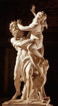 Hades, the god of the underworld, wanted the beautiful Persephone as his wife. This marble sculpture by Bernini from the shows Hades carrying Persephone off to his kingdom. Bernini Sculpture, Sculpture Art, Gian Lorenzo Bernini, Famous Sculptures, Daughter Of Zeus, Roman Gods, Hades And Persephone, Italian Artist, Gods And Goddesses