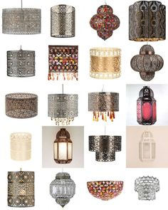 Shabby Chic Moroccan Light shade Ceiling Pendant Lampshade Chandelier New in…