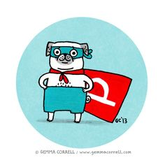 super pug / gemma correll, via Flickr