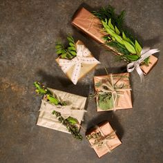 Botanically wrapped presents... #lizearle #wellbeing #lizearlemag #christmas #christmaswrapping #botanical #herbalife #herbs by lizearlewellbeing