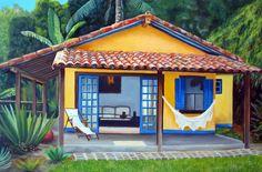 de casas de praia: 15 modelos Casa de praia com fachada decoradaCasa de praia com fachada decorada Exterior Design, Interior And Exterior, Exterior Paint, Facade House, House Facades, Spanish Style, Little Houses, Future House, House Plans