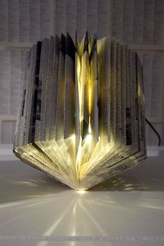 newspaper lamp shade - is it me, or does this appear to be a fire hazard?  @Rebecca Browning