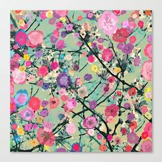 Floral abstract(60) Canvas Print