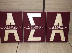 alpha sigma alpha asa letters sorority canvas