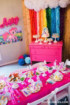 My Little Pony Birthday Party via Kara's Party Ideas KarasPartyIdeas.com Cake, decor, tutorials, recipes, favors and MORE! #mylittlepony #mylittleponyparty #ponyparty #rainbowparty #girlpartyideas (17)