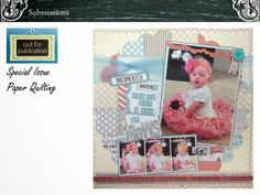 Layout developed for Creating Keepsakes Magazine, Special Issue Quilting -Scrap-artiste'