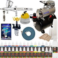Systems and Sets 183095: Complete Pro G44 Master Dual-Action Airbrush W-Air Compressor Kit And Paint -> BUY IT NOW ONLY: $199.96 on eBay!