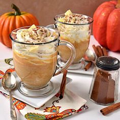 Pumpkin Spice White Hot Chocolate- it's like having dessert in a mug!