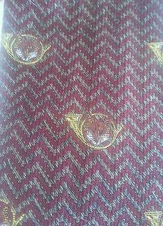 Land's End Mens 100 Silk Tie Fox Horn Design | eBay