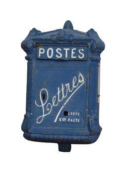 Old Parisian Mailbox Cast Iron Antique Mailbox, Old Mailbox, Vintage Mailbox, Decorative Objects, Decorative Boxes, Letters From Home, Unique Mailboxes, Cast Iron, It Cast