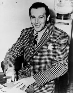 Benny Bugsy Siegel 1906-1947 >> Las Vegas day on It's a Man's World! Pin with me! Las Vegas Style!