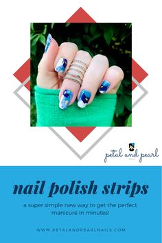 Nail Polish Stickers, Diy Nail Polish, Nail Polish Strips, Diy Nails, Fall Nail Trends, Pearl Nails, Floral Nail Art, Stylish Nails, Color Street