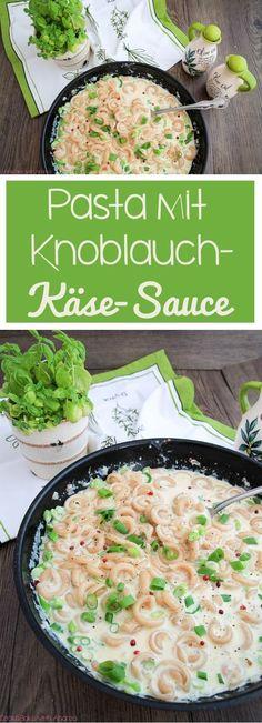 C&B with Andrea - Pasta mit Knoblauch-Käse-Sauce Rezept - Frühling - www.candbwithandrea.com - Collage