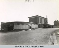 Acton Town Station (1932) by Charles Holden.  Image from London Transport Museum