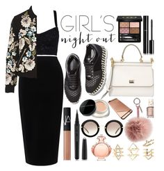 """""""Girl's Night Out"""" by fattie-zara ❤ liked on Polyvore featuring Dolce&Gabbana, Tome, Needle & Thread, Paco Rabanne, STELLA McCARTNEY, Gucci, Chanel, Marc Jacobs, NARS Cosmetics and Miu Miu"""