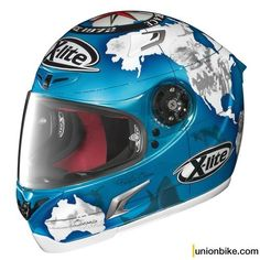 Casco X-Lite X-802R Replica Checa Pearl Blue