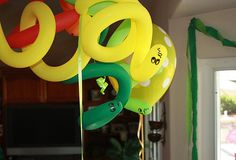 snake party decor - Google Search  He wants a snake party... lol and he was a banana for Halloween. such a funny kid- original, I'll give him that.